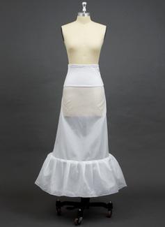 Damen Polyester/Elasthan Bodenlangen 1 Ebene Unterröcke