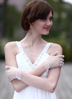 Tul Muñeca Largo Guantes de novia
