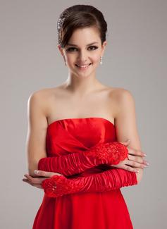 Satén elástico Codo Largo Fiesta/Moda Guantes/Guantes de novia