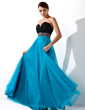 Empire Sweetheart Floor-Length Chiffon Tulle Prom Dress With Ruffle Beading Sequins (018004900)