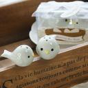 Vogelnest Keramik Salz-und Pfefferstreuer mit Bänder (Set mit 2 Stück)