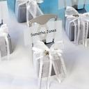 Stuhl Entwurf Cubic Karton Papier Geschenkboxen mit Bänder (Satz von 12)
