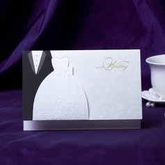 Bride & Groom Style Top Falten Invitation Cards (Satz Von 50)