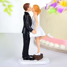 Baisers des couples Résine Mariage Décoration pour gâteaux