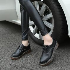 De mujer Cuero Tacón plano Planos con Cordones zapatos