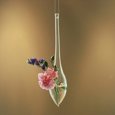 Elegant Hanging Water Drop Shaped Glass Vase