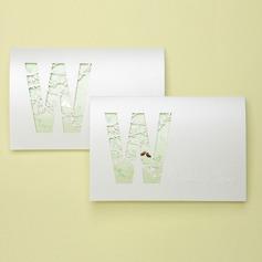 Tappning Färg Tri-Fold Invitation Cards (Sats om 50)