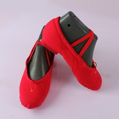 Women's Canvas Flats Ballet Dance Shoes