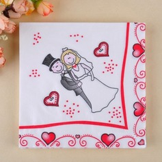 Couple heureux conception Serviette de dîner (Lot de 20)