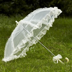 Lumineux Dentelle Ombrelle de mariage