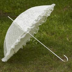Gorgeous Terylene/Lace Wedding Umbrellas With Appliques