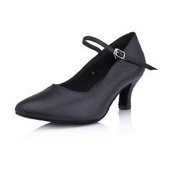 Women's Leatherette Heels Pumps Ballroom Dance Shoes