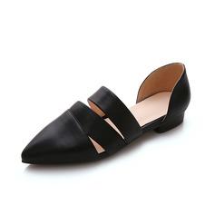 Cuero Tacón plano Planos Cerrados zapatos
