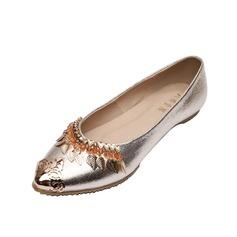 Similicuir Talon plat Chaussures plates Bout fermé avec Paillette chaussures