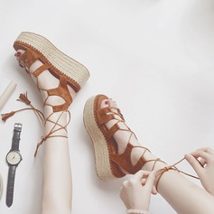 De mujer Ante Tipo de tacón Plataforma con Cordones zapatos
