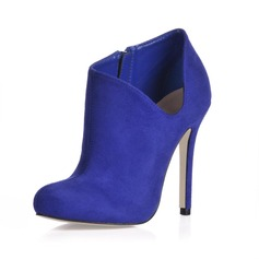 Suede Stiletto Heel Closed Toe Ankle Boots shoes