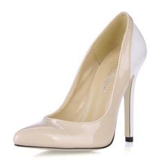 Women's Patent Leather Stiletto Heel Closed Toe Pumps