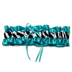 Einzigartig Satiniert mit Zebra-Druck Hochzeit Strumpfbänder