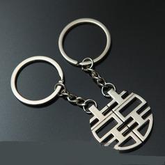 Klassische doppeltes Glück Zink Legierung Schlüsselanhänger (Set aus 4 paar)