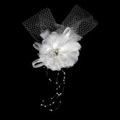 Mode Kristall Satiniert Netz Blumen