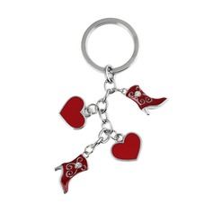 Lovely Shoes Design Chrome Keychains