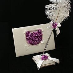 Blütenblätter Gästebuch/Schreibset
