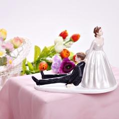 Bride And Groom Resin Wedding Cake Topper