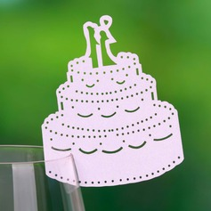 Wedding Cake Pearl Paper Place Cards (set of 12)