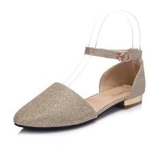 Similicuir Talon bas Chaussures plates Bout fermé avec Paillette chaussures