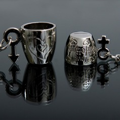 Classic Lovely Cup Zinc alloy Keychains (set of 4 pairs)