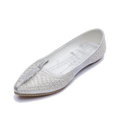 Similicuir Talon plat Chaussures plates Bout fermé chaussures