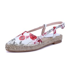 Women's Real Leather Flat Heel Flats Slingbacks shoes