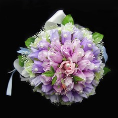 Romantique Attaché à la main Satin/Coton Bouquets de Mariée