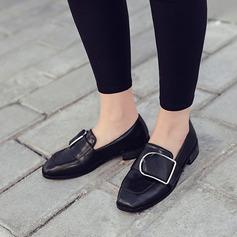 De mujer Cuero Tacón bajo Cerrados con Hebilla zapatos
